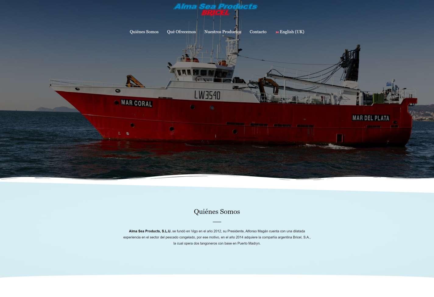 Portada Alma Sea Products